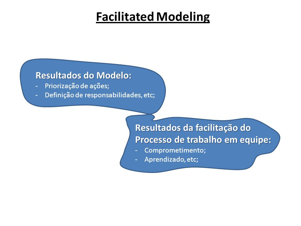 Facilitated Modeling Resultados do Modelo: