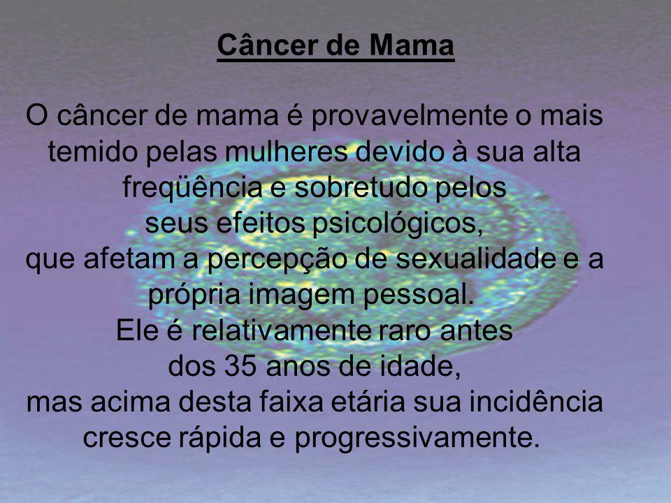 O câncer de mama é provavelmente o mais