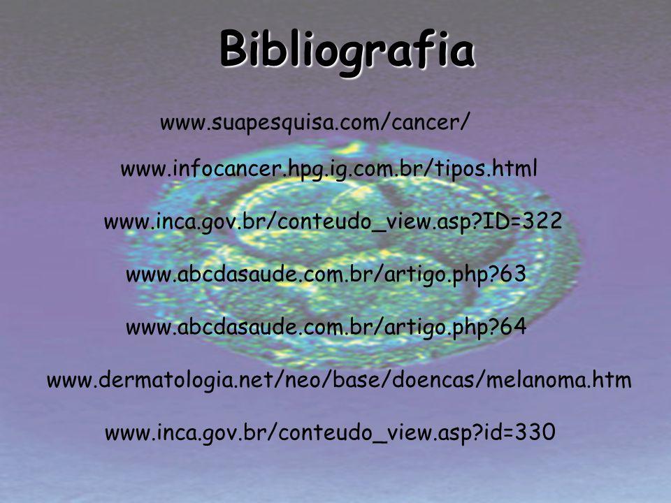 Bibliografia www.suapesquisa.com/cancer/