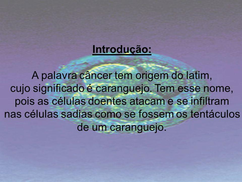 A palavra câncer tem origem do latim,