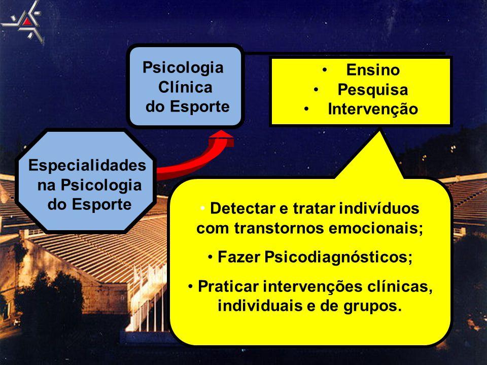 Detectar e tratar indivíduos com transtornos emocionais;