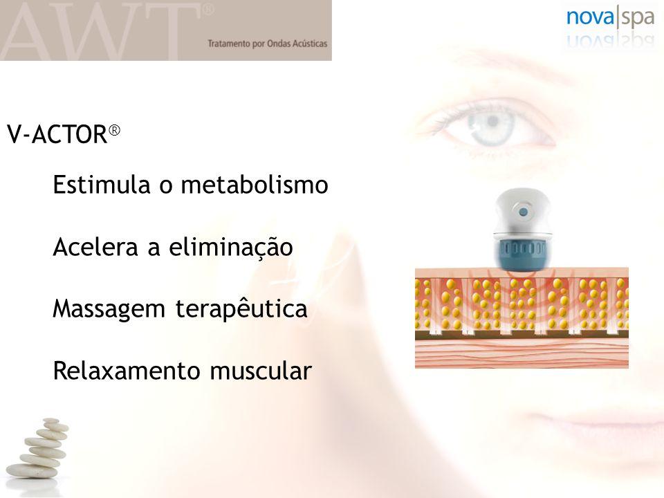 V-ACTOR® Estimula o metabolismo Acelera a eliminação Massagem terapêutica Relaxamento muscular
