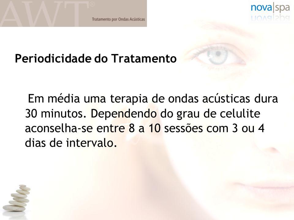 Periodicidade do Tratamento Em média uma terapia de ondas acústicas dura 30 minutos.