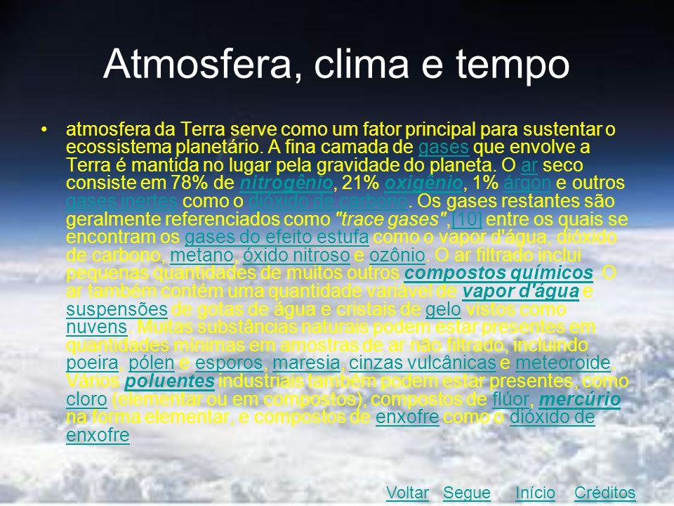 Atmosfera, clima e tempo