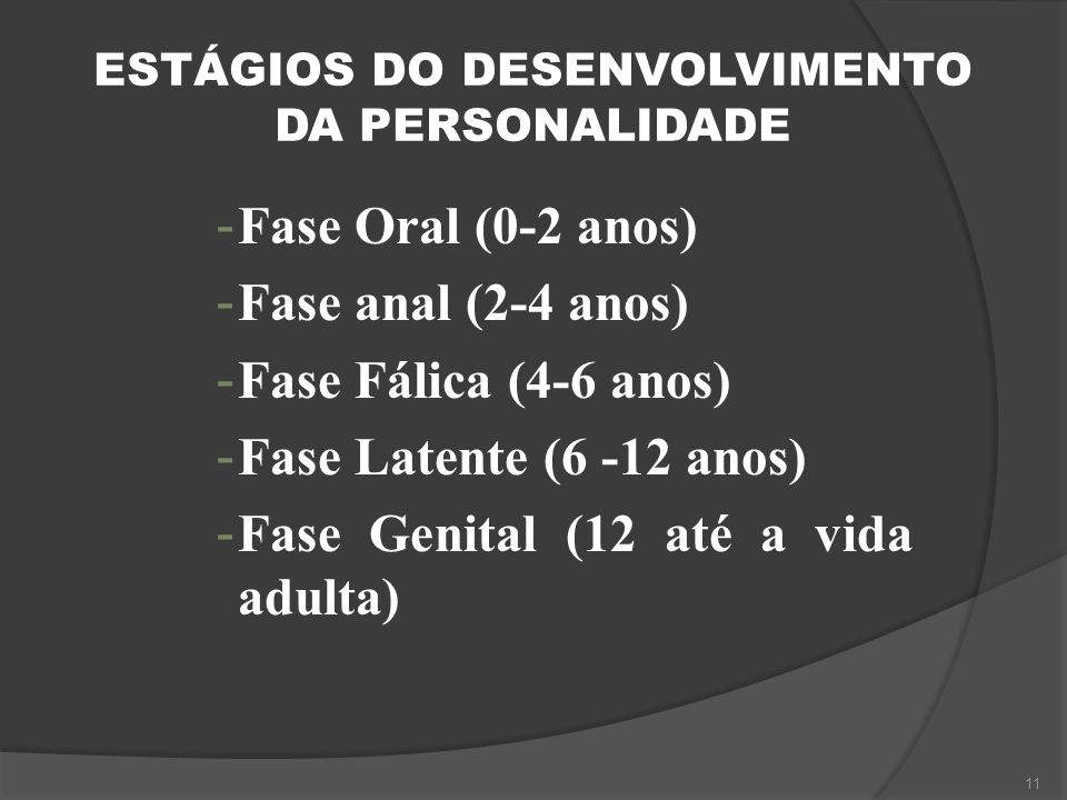 ESTÁGIOS DO DESENVOLVIMENTO DA PERSONALIDADE