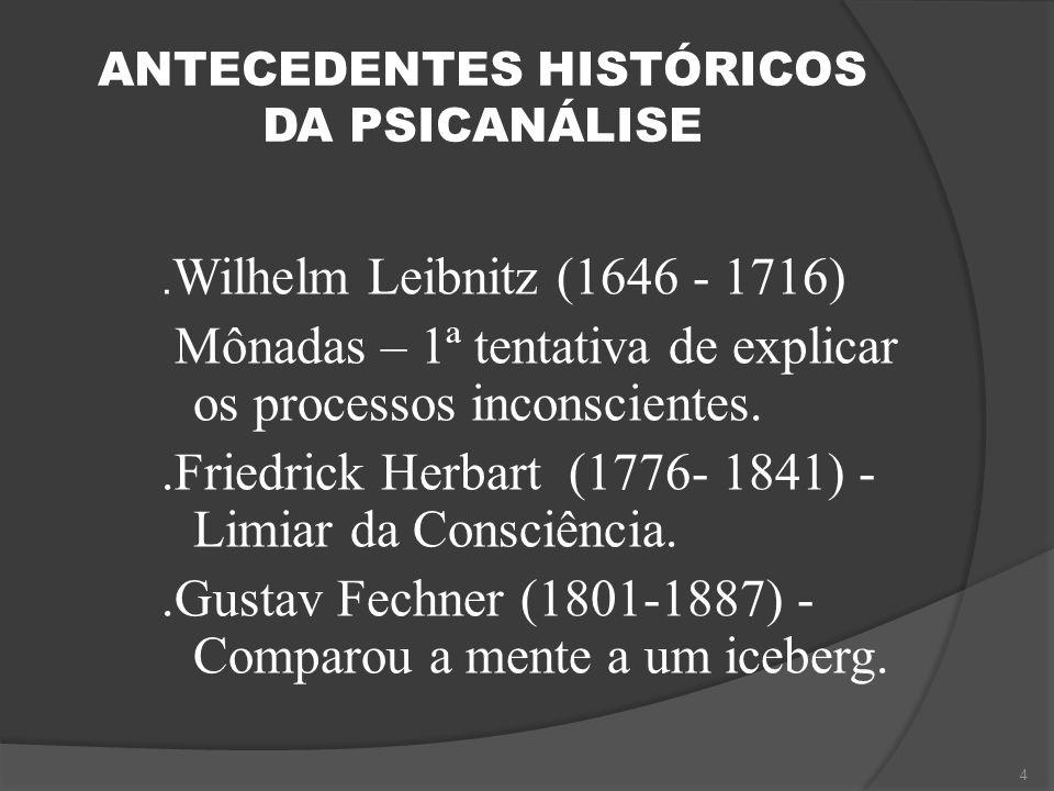 ANTECEDENTES HISTÓRICOS DA PSICANÁLISE