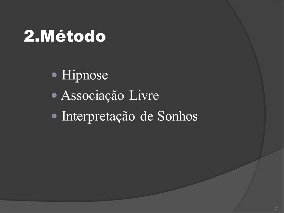 2.Método Hipnose Associação Livre Interpretação de Sonhos