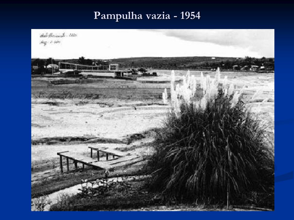 Pampulha vazia - 1954