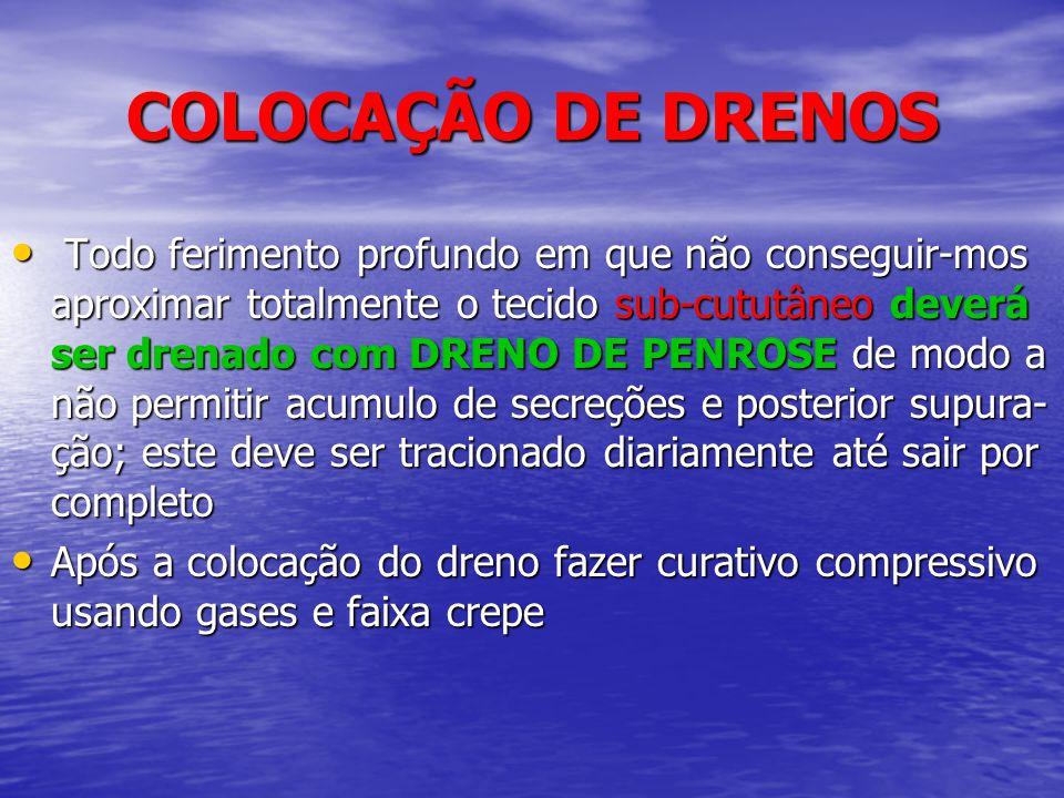 COLOCAÇÃO DE DRENOS