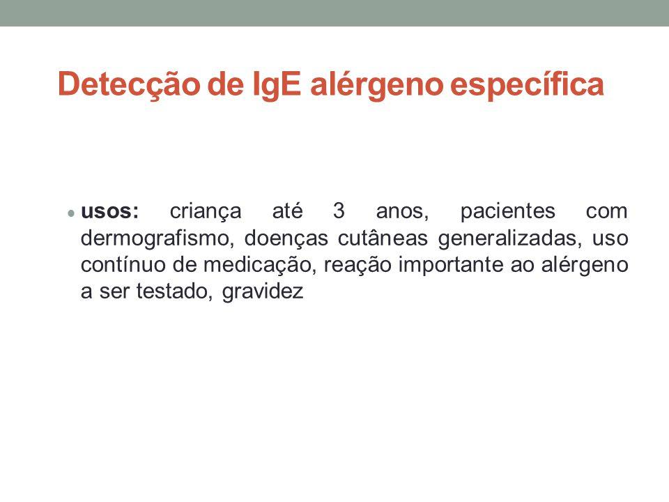Detecção de IgE alérgeno específica