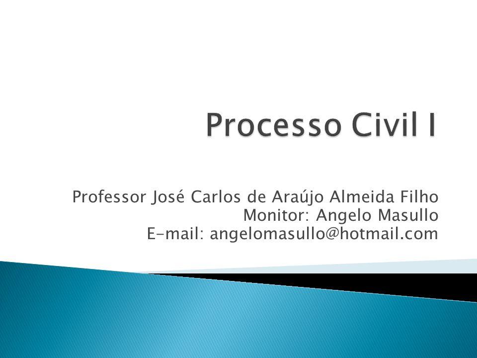 Processo Civil I Professor José Carlos de Araújo Almeida Filho