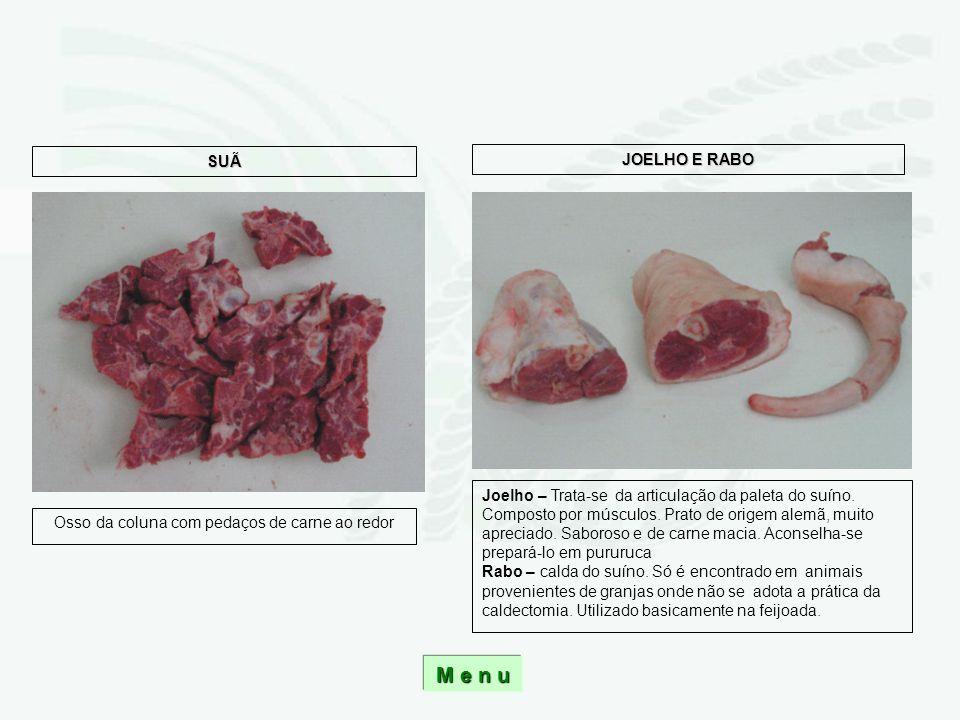 Osso da coluna com pedaços de carne ao redor