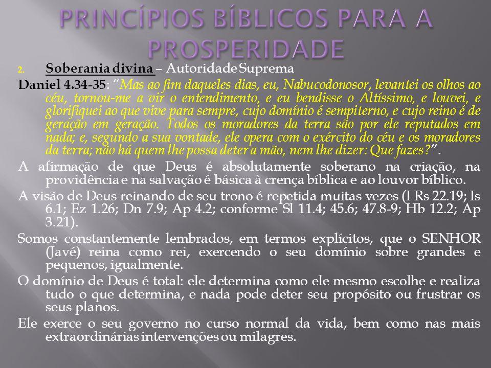 PRINCÍPIOS BÍBLICOS PARA A PROSPERIDADE