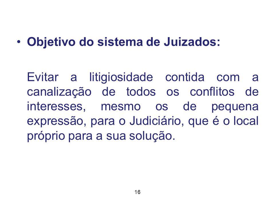 Objetivo do sistema de Juizados: