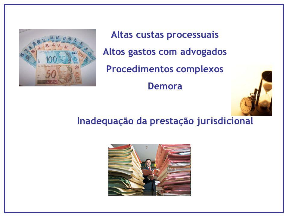 Altas custas processuais Altos gastos com advogados