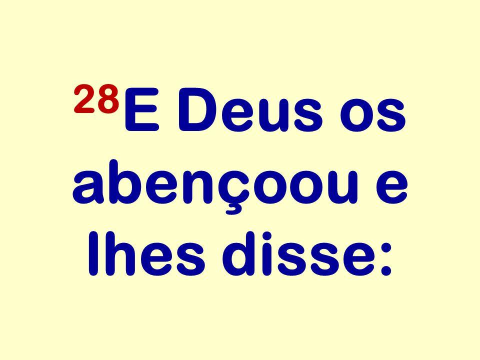 28E Deus os abençoou e lhes disse: