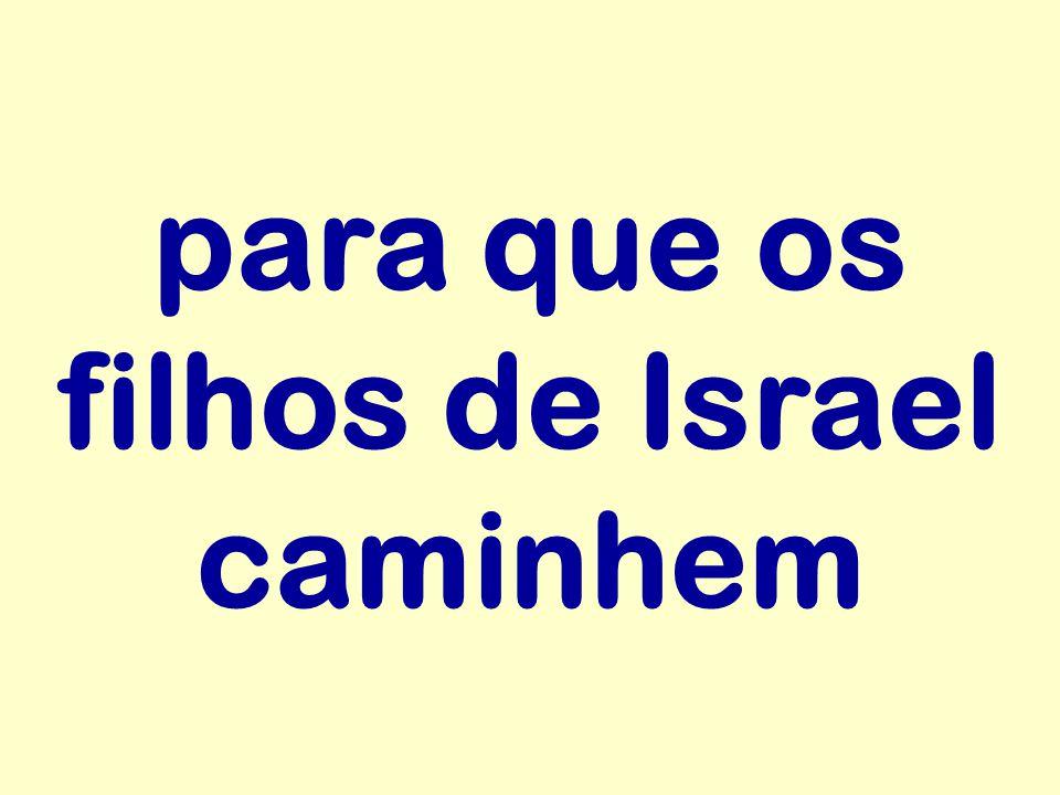 para que os filhos de Israel caminhem