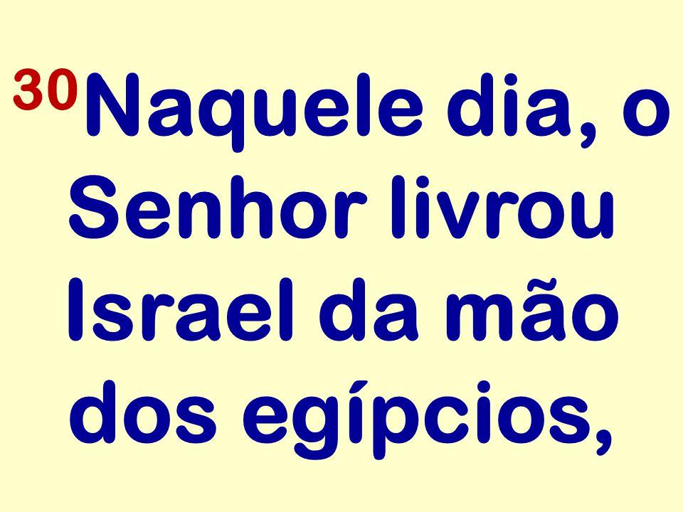30Naquele dia, o Senhor livrou Israel da mão dos egípcios,