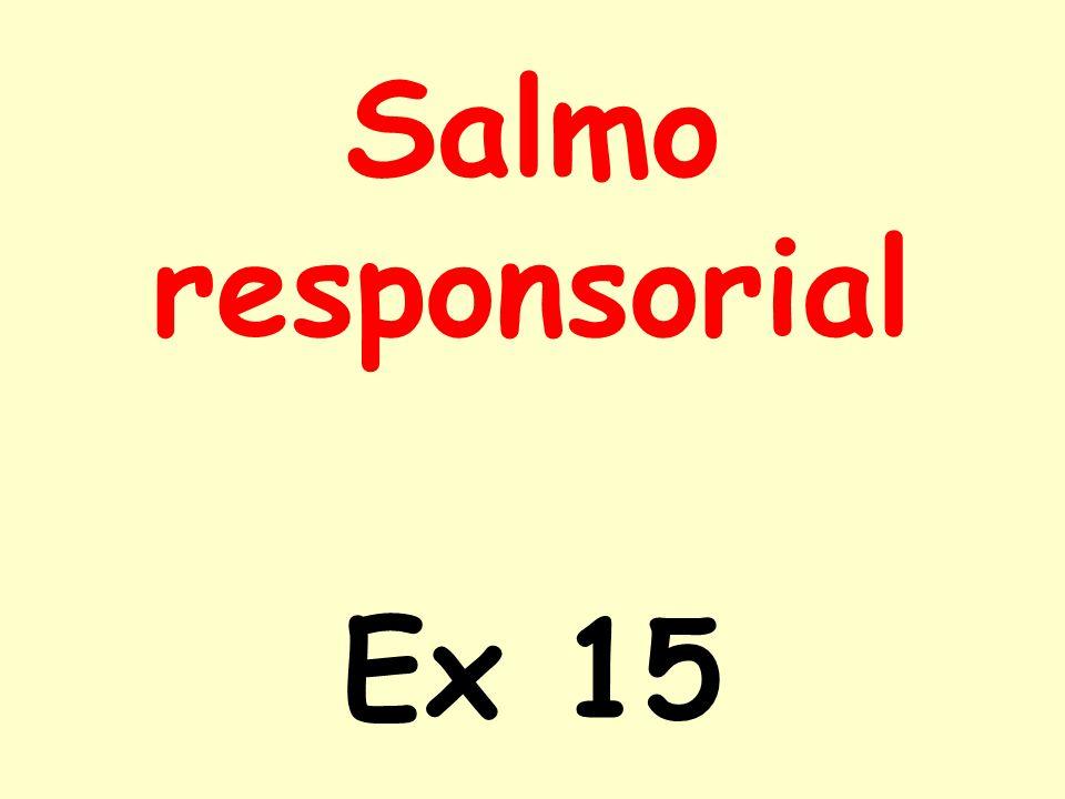 Salmo responsorial Ex 15