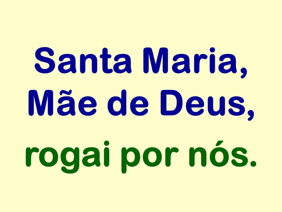 Santa Maria, Mãe de Deus, rogai por nós.