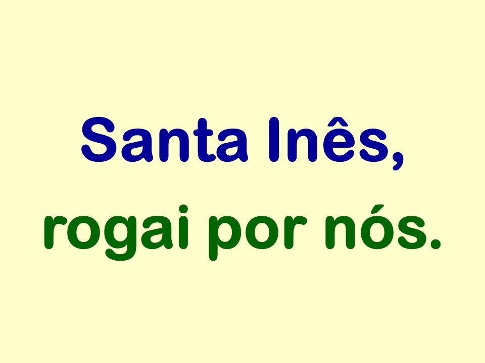 Santa Inês, rogai por nós.