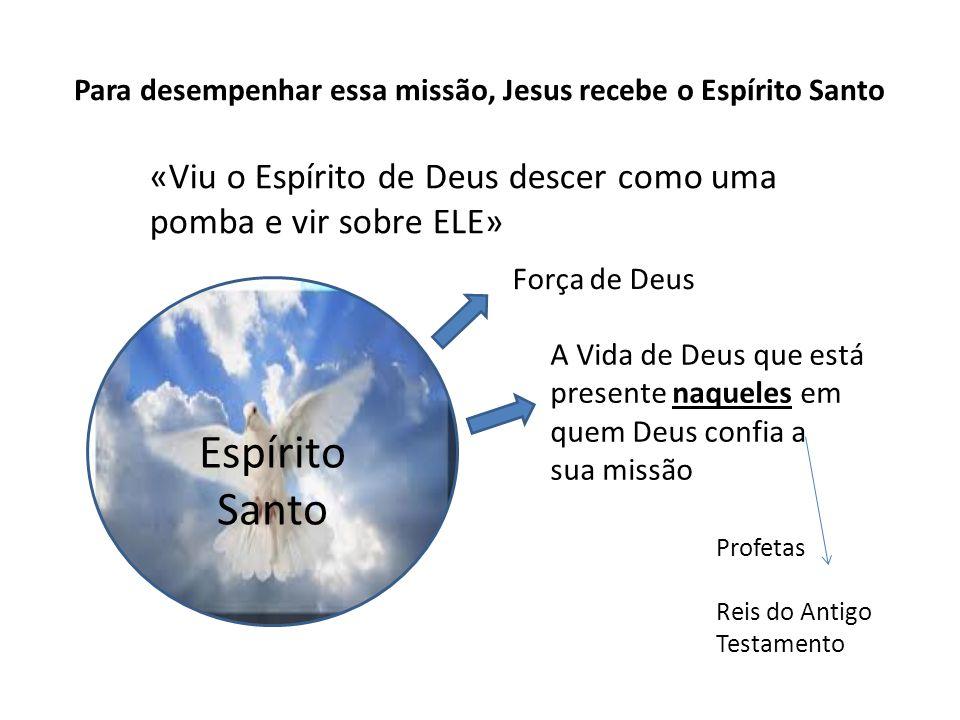 Para desempenhar essa missão, Jesus recebe o Espírito Santo