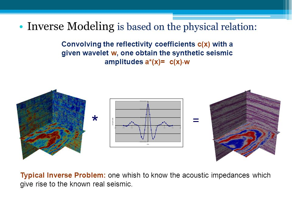 * Inverse Modeling is based on the physical relation: =
