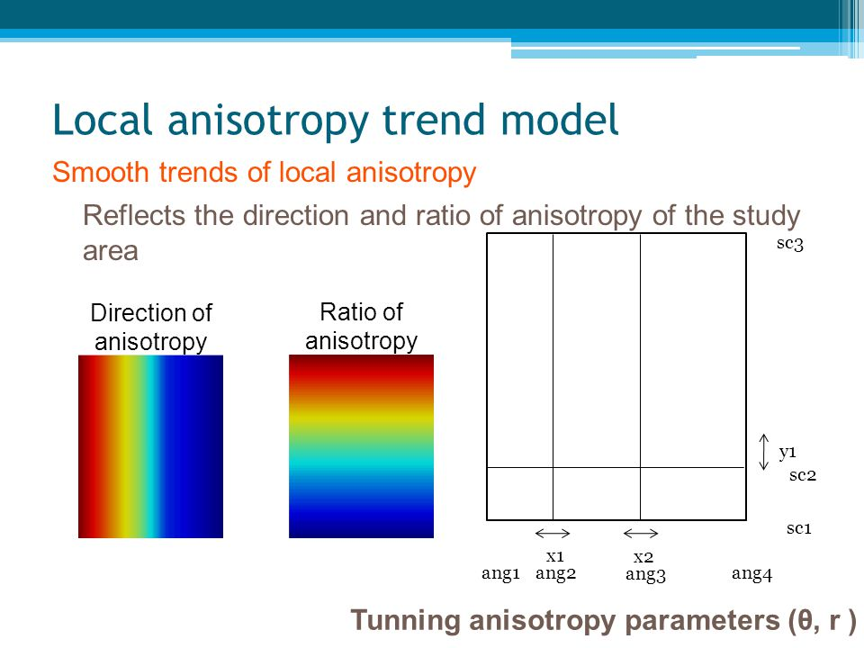 Local anisotropy trend model