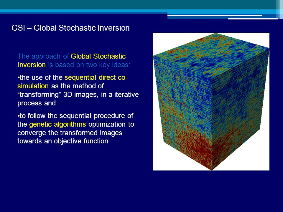GSI – Global Stochastic Inversion