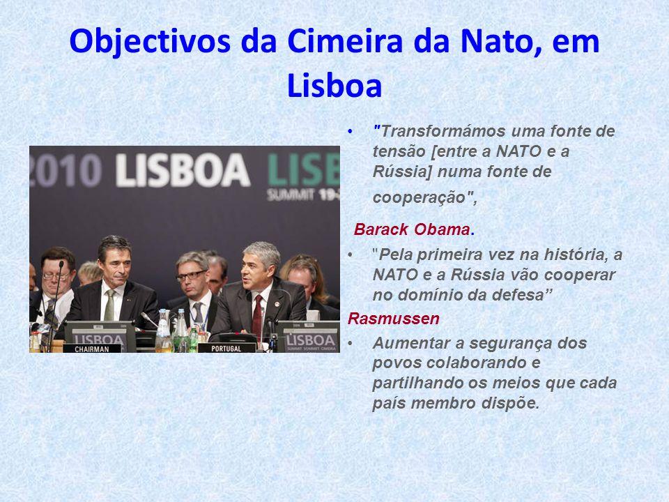 Objectivos da Cimeira da Nato, em Lisboa