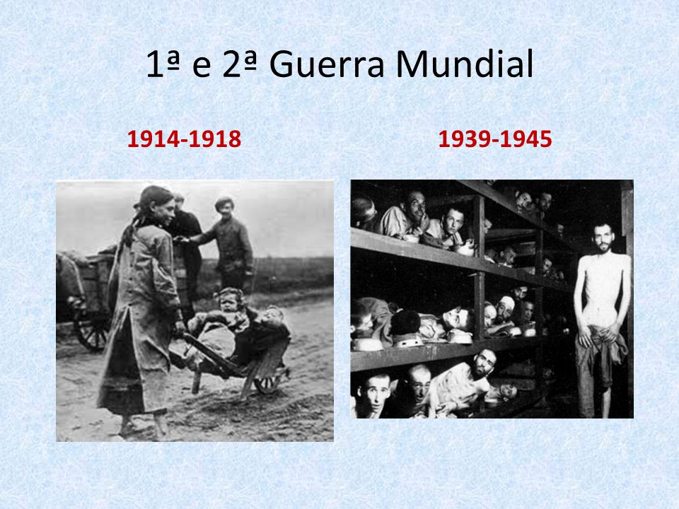 1ª e 2ª Guerra Mundial 1914-1918 1939-1945