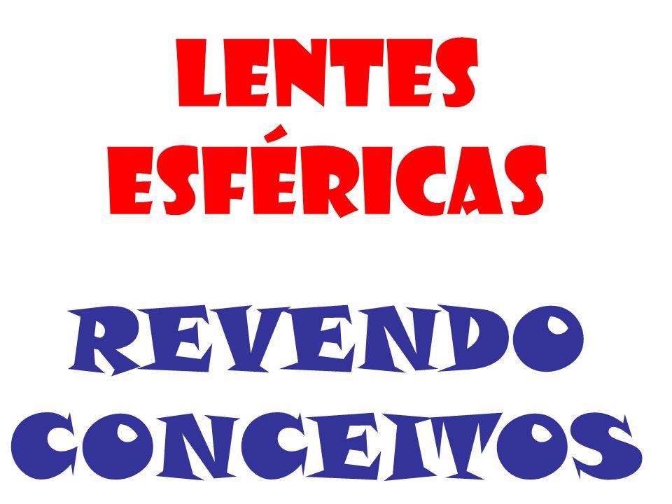 LENTES ESFÉRICAS REVENDO CONCEITOS