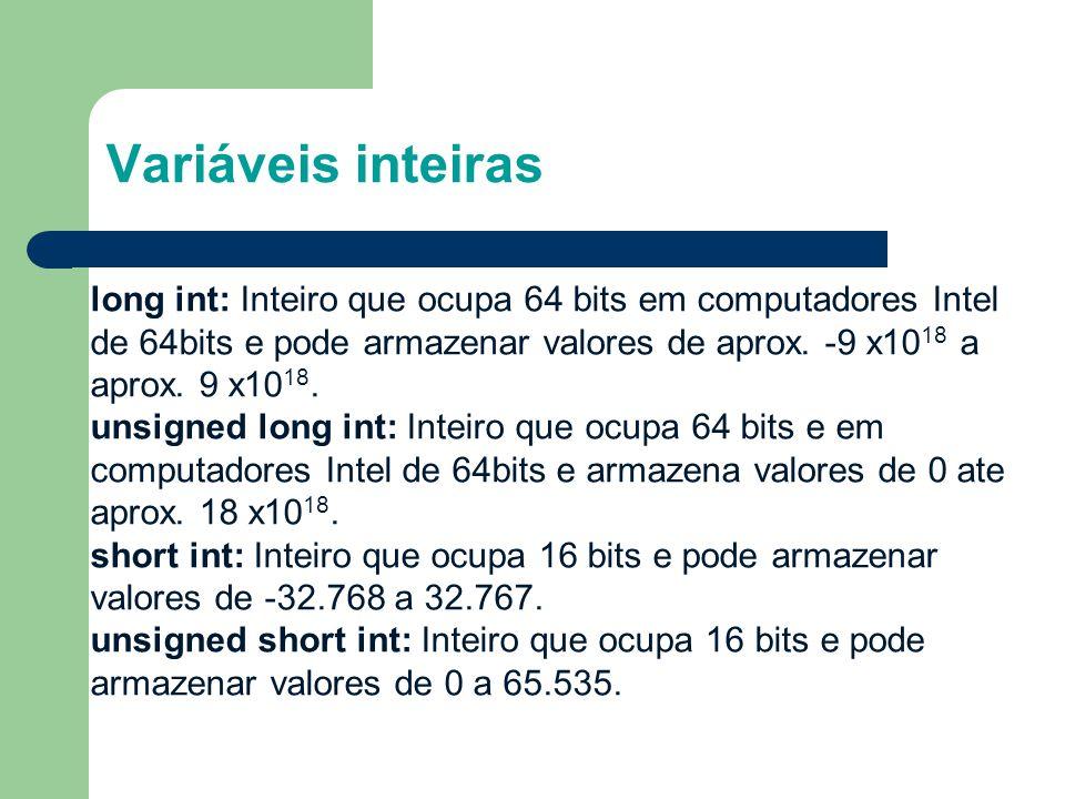 1414 Variáveis inteiras.