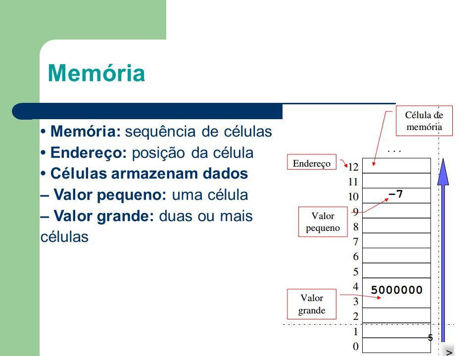 Memória 8 • Memória: sequência de células