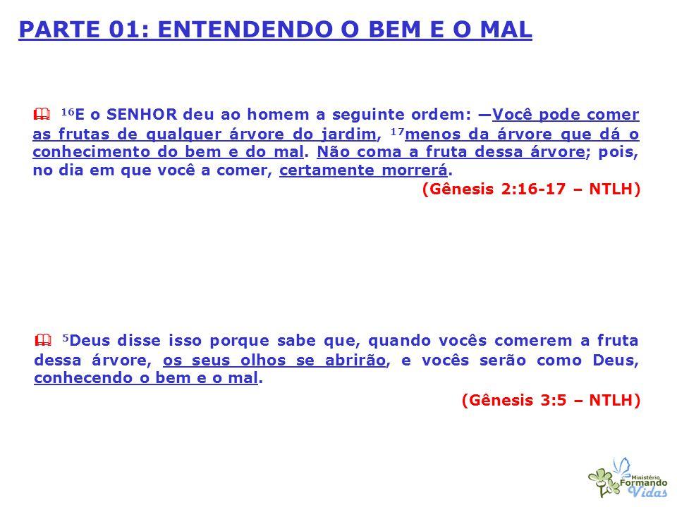 PARTE 01: ENTENDENDO O BEM E O MAL