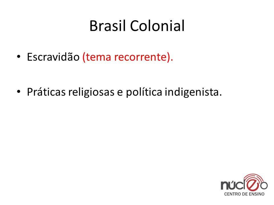 Brasil Colonial Escravidão (tema recorrente).