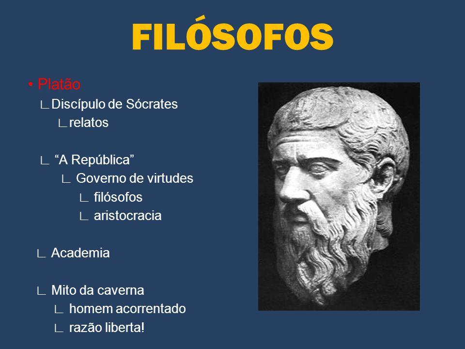 FILÓSOFOS • Platão ∟Discípulo de Sócrates ∟relatos ∟ A República