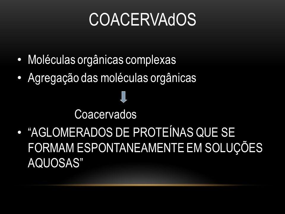 COACERVAdOS Moléculas orgânicas complexas