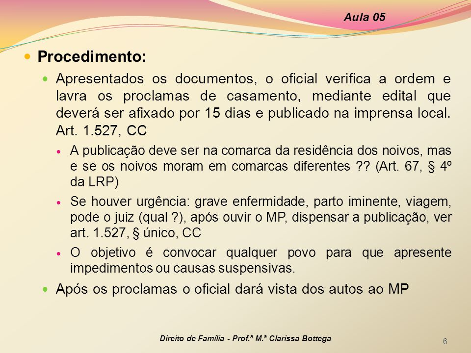 Aula 05 Procedimento: