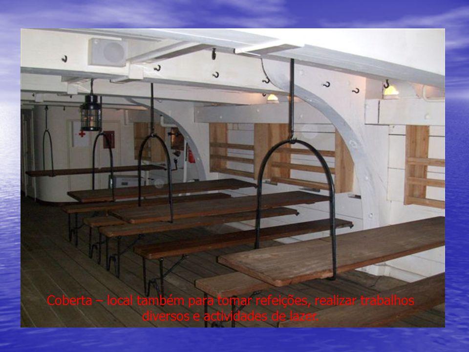 Coberta – local também para tomar refeições, realizar trabalhos diversos e actividades de lazer.