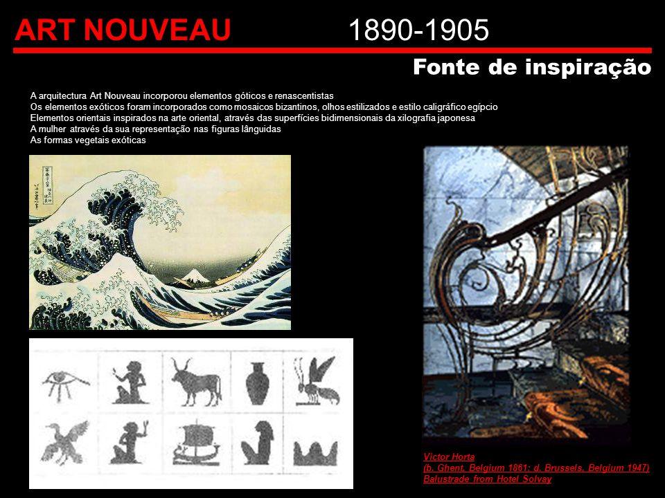 ART NOUVEAU 1890-1905 Fonte de inspiração