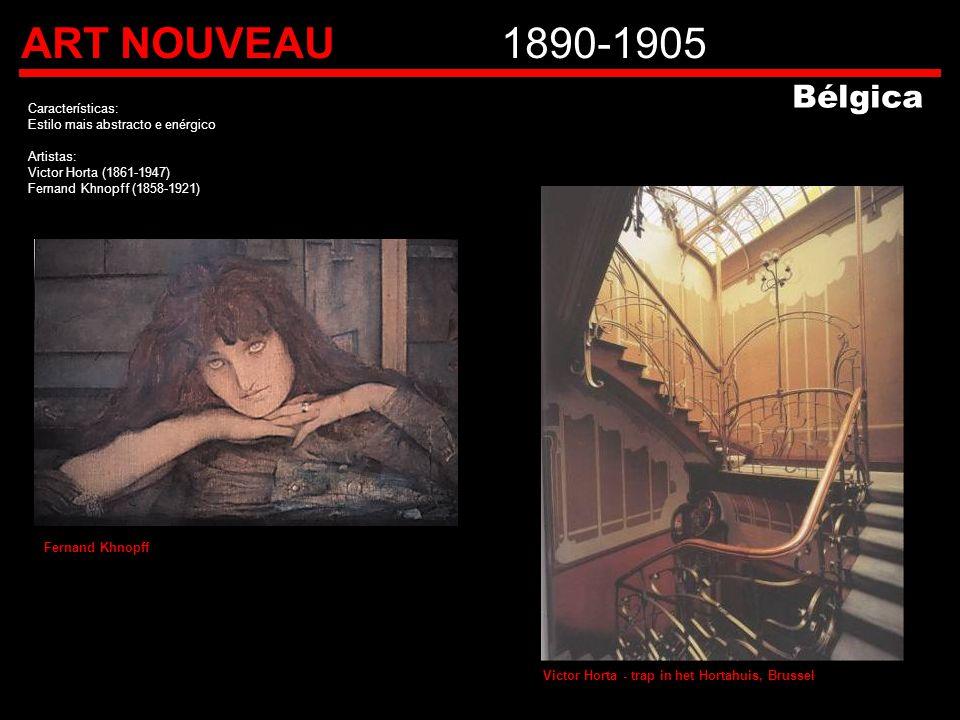 ART NOUVEAU 1890-1905 Bélgica Características: