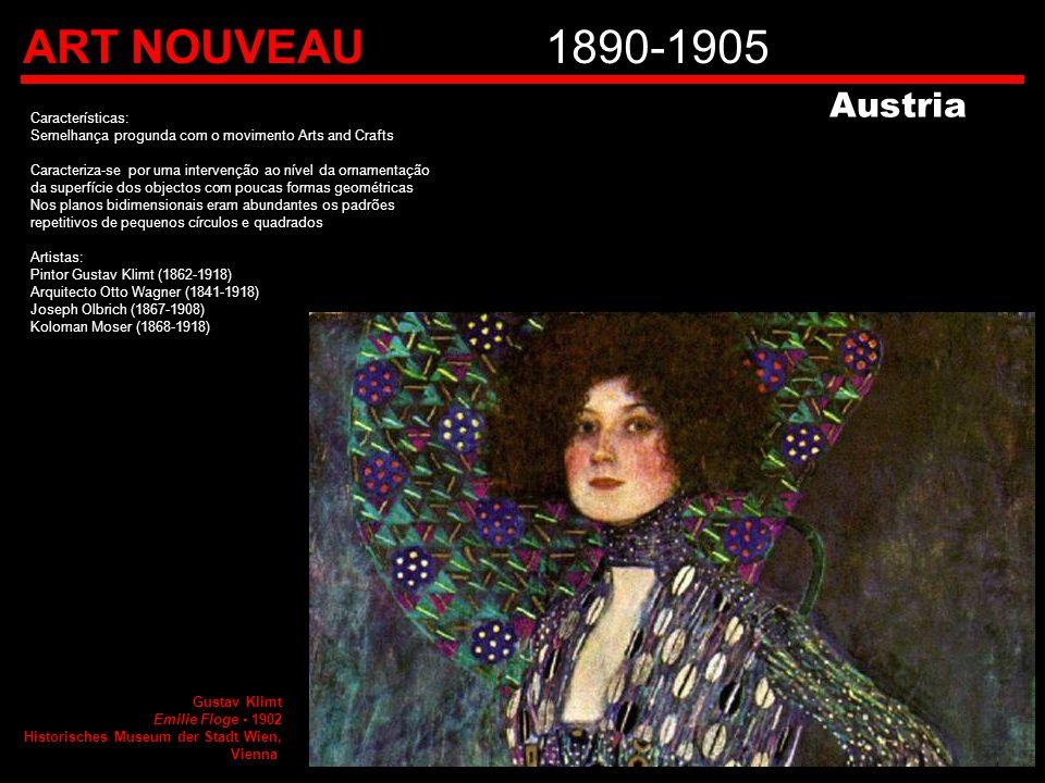 ART NOUVEAU 1890-1905 Austria Características: