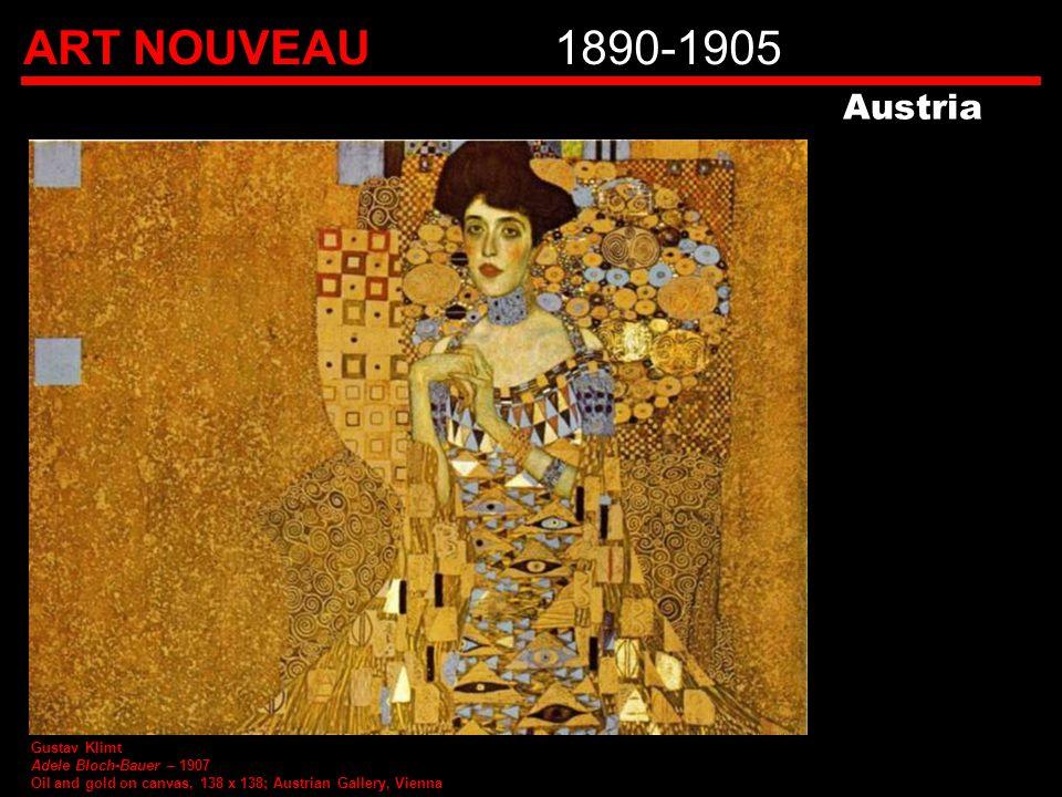 ART NOUVEAU 1890-1905 Austria Gustav Klimt Adele Bloch-Bauer – 1907