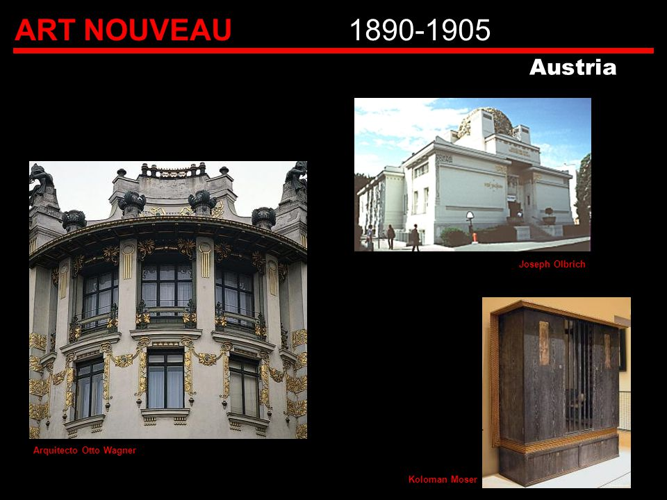 ART NOUVEAU 1890-1905 Austria Joseph Olbrich Arquitecto Otto Wagner