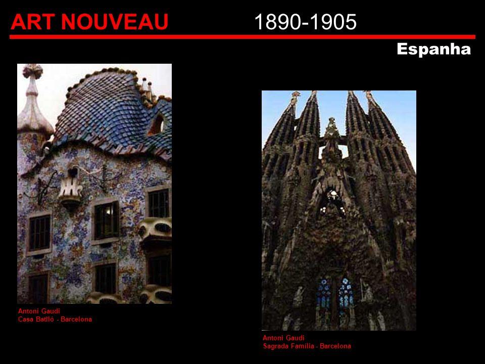 ART NOUVEAU 1890-1905 Espanha Antoni Gaudi Casa Batlló - Barcelona