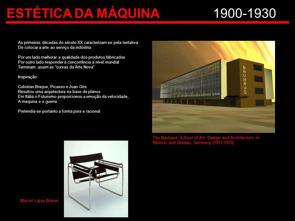 ESTÉTICA DA MÁQUINA 1900-1930 As primeiras décadas do século XX caracterizam-se pela tentativa. De colocar a arte ao serviço da indústria.