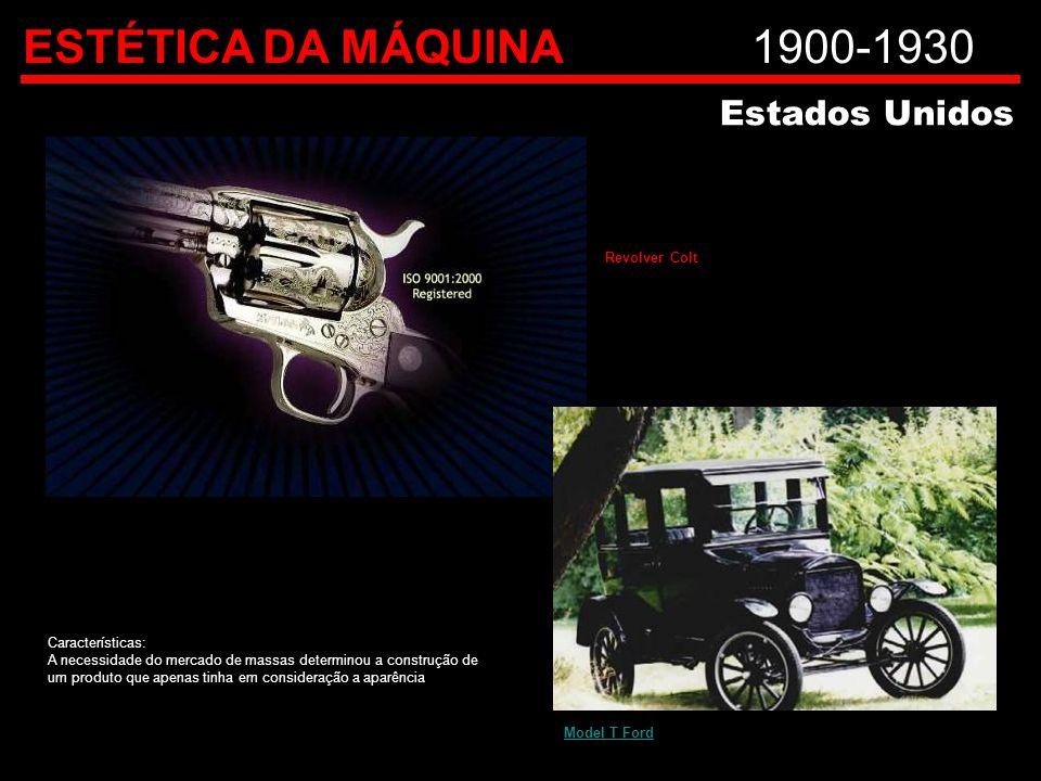 ESTÉTICA DA MÁQUINA 1900-1930 Estados Unidos Revolver Colt