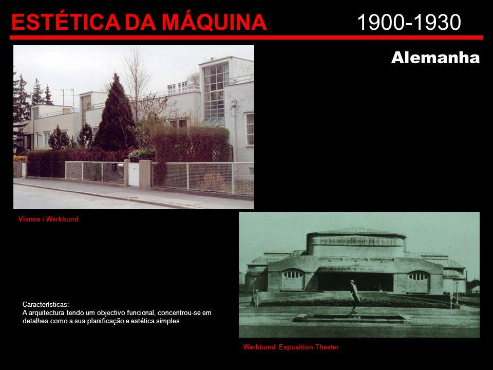 ESTÉTICA DA MÁQUINA 1900-1930 Alemanha Vienne / Werkbund