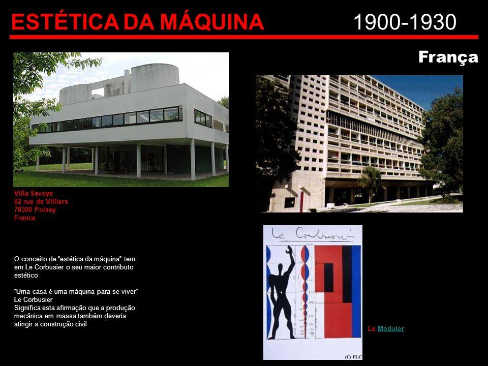 ESTÉTICA DA MÁQUINA 1900-1930 França